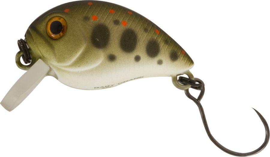 Воблер Tsuribito Baby Crank S-SR, цвет: болотный (524), длина 25 мм, вес 3,4 г