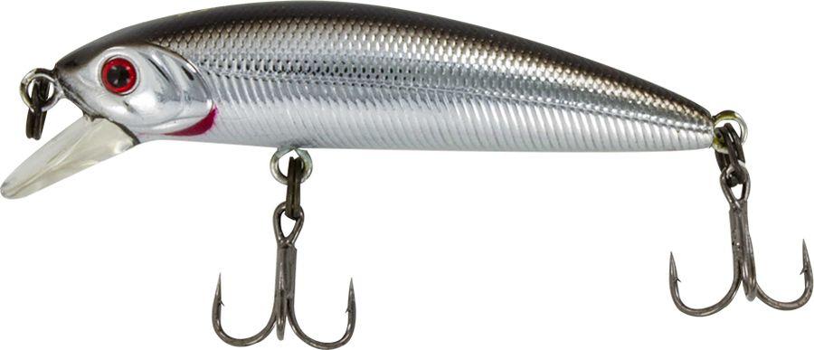 Воблер Tsuribito Minnow F, цвет: серебристый (011), длина 35 мм, вес 1,3 г