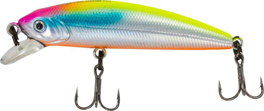 Воблер Tsuribito Minnow F, цвет: серебристый, оранжевый (057), длина 35 мм, вес 1,3 г