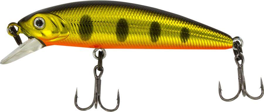 Воблер Tsuribito Minnow SS, цвет: черный, золотой, красный (052), длина 50 мм, вес 4,5 г