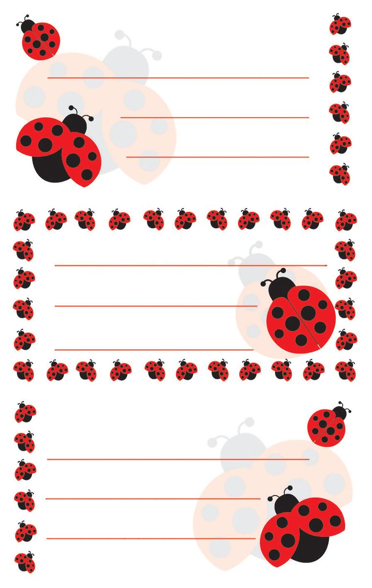 Avery Zweckfrom Набор наклеек на обложки Божьи коровки 6 шт стикеры z design для подписи тетрадей буквы цифры avery zweckform