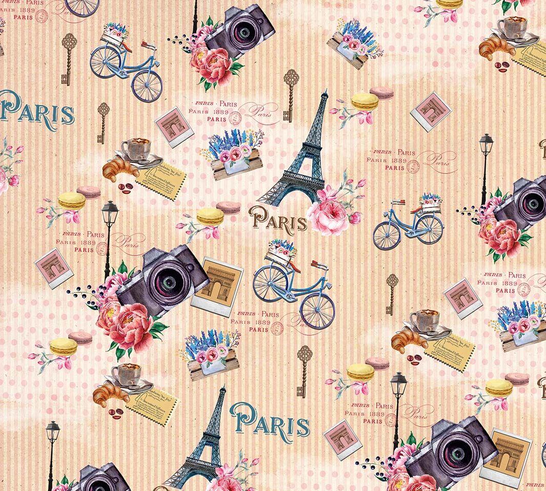 "Упаковочная бумага Magic Home ""Прогулка по Парижу"", мелованная, 100 х 70 см"