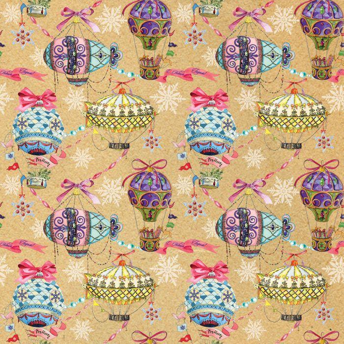 "Крафт бумага Magic Time ""Праздничные шары"", немелованная, 100 х 70 см"