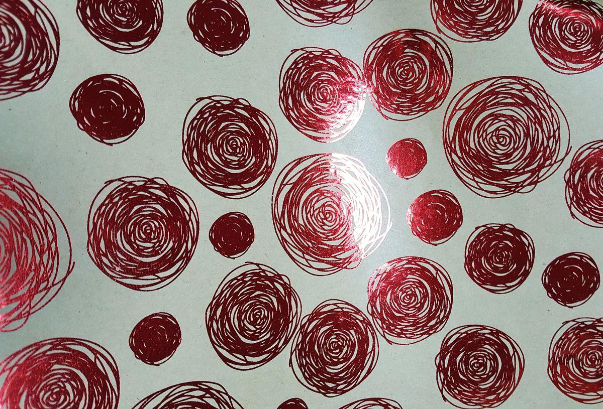 """Крафт бумага Magic Time """"Красные водовороты"""", немелованная, 100 х 70 см"""