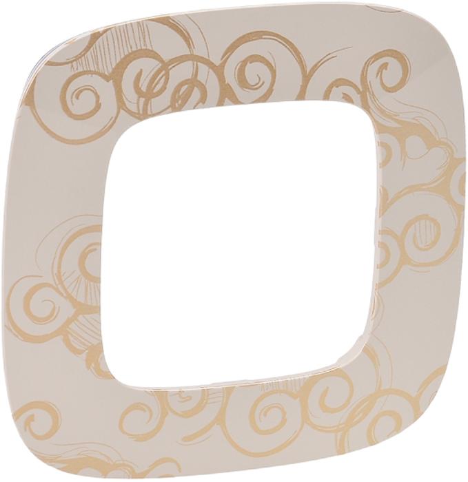 Рамка электроустановочная Legrand Valena Allure Нарцисс, цвет: золотистый, на 1 пост рамка для розеток и выключателей горизонтальная 1 пост цвет бежевый