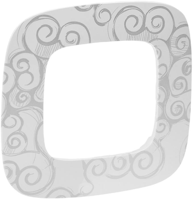 Рамка электроустановочная Legrand Valena Allure Нарцисс, цвет: хром, на 1 пост рамка для розеток и выключателей горизонтальная 1 пост цвет бежевый