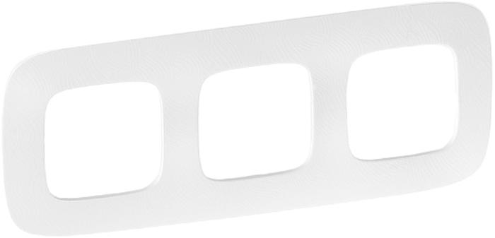 Рамка электроустановочная Legrand Valena Allure Тиснение, на 3 поста, цвет: белый цены