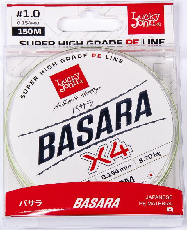 Леска плетеная Lucky John Basara, сечение 0,154 мм, длина 150 м