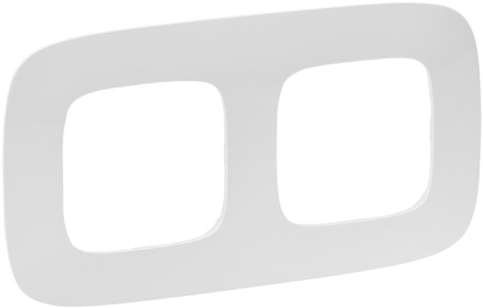 Рамка электроустановочная Legrand Valena Allure, цвет: белый, на 2 поста рамка для розеток и выключателей bjb basic55 2 поста цвет чёрный