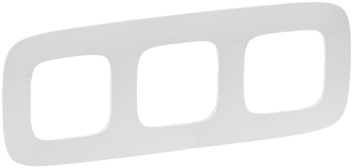 Рамка электроустановочная Legrand Valena Allure, цвет: жемчуг, на 3 поста рамка для розеток и выключателей valena 3 поста цвет алюминий