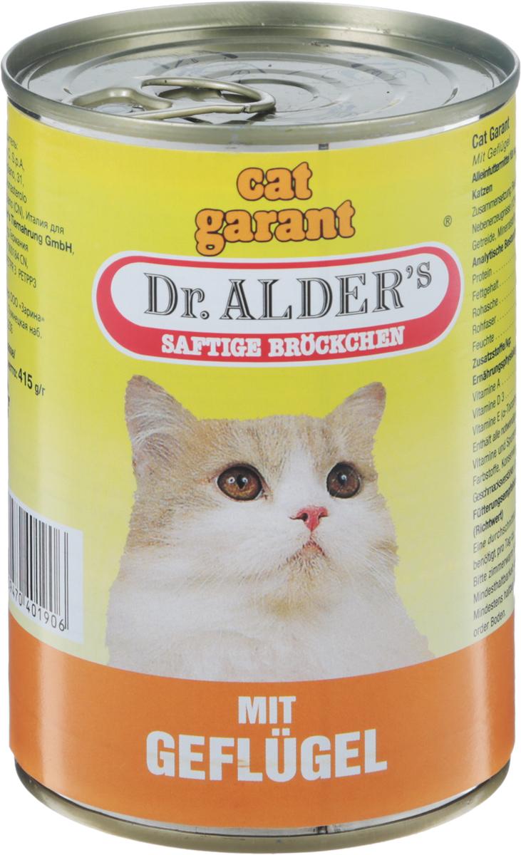 Консервы Dr. Alders Cat Garant для взрослых кошек, с курицей, 415 г dr oetker пикантфикс для грибов 100 г