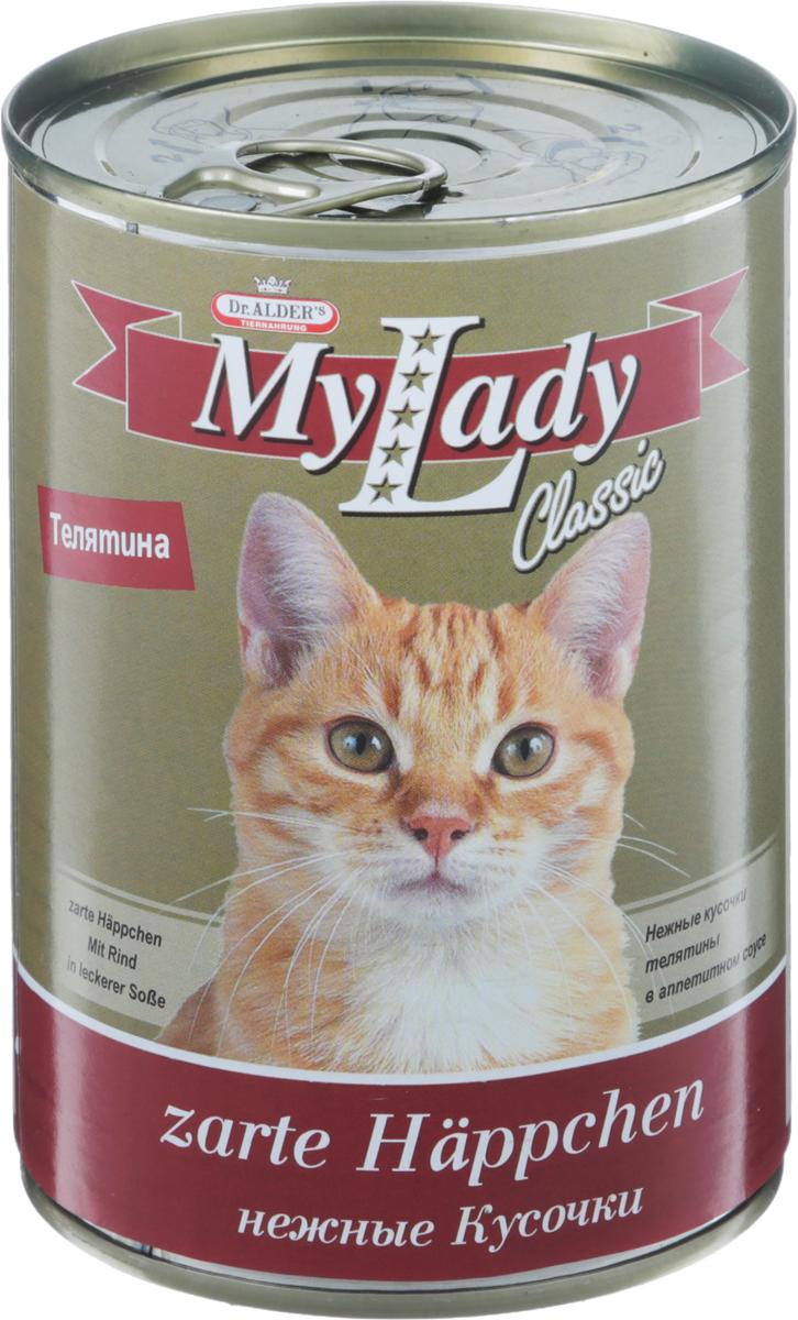 Консервы Dr. Alders My Lady. Classic для взрослых кошек, с телятиной, 415 г dr oetker пикантфикс для грибов 100 г