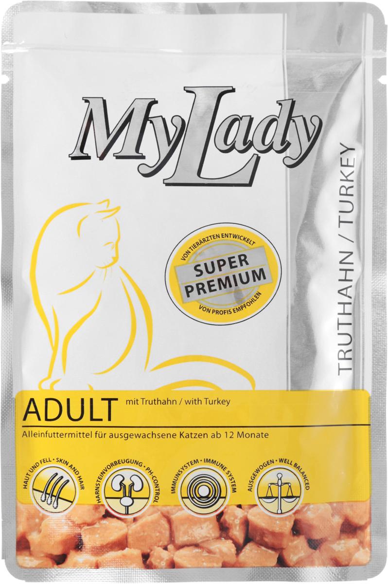 Корм консервированный Dr. Alders My Lady. Premium Adult для взрослых кошек, с индейкой, 85 г корм консервированный dr clauder s для кошек с телятиной и индейкой 100 г