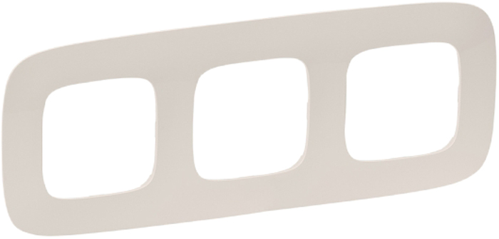 Рамка электроустановочная Legrand Valena Allure, цвет: слоновая кость, на 3 поста рамка 2 поста legrand valena allure слоновая кость