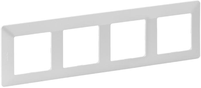 Рамка электроустановочная Legrand Valena Life, на 4 поста, цвет: жемчуг цена