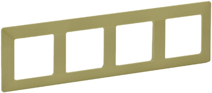Рамка электроустановочная Legrand Valena Life, цвет: лайм, на 4 поста цена