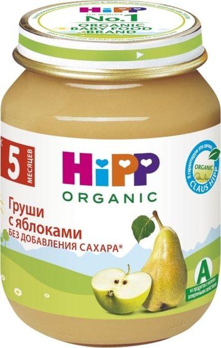Hipp пюре яблоки с грушей, с 5 месяцев, 125 г