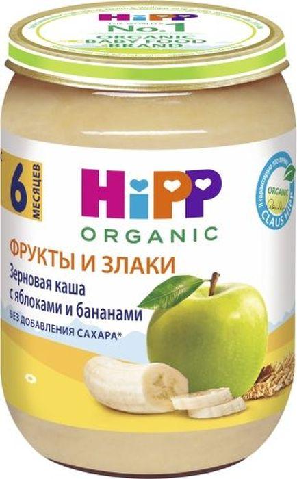 Hipp каша зерновая с яблоками и бананами, с 6 месяцев, 190 г hipp каша зерновая спокойной ночи овсяная с бананами и мелиссой с 6 месяцев 200 г
