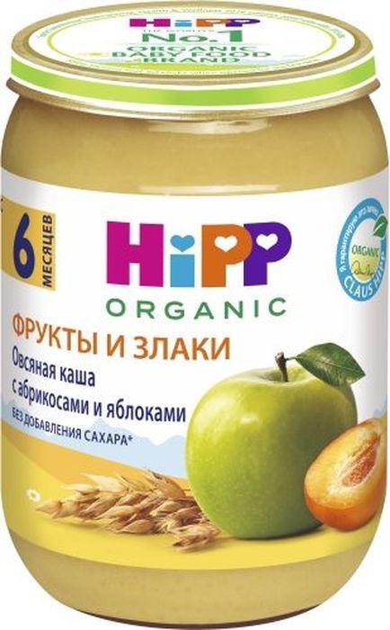 Hipp пюре овсяная каша с абрикосами и яблоками, с 6 месяцев, 190 г