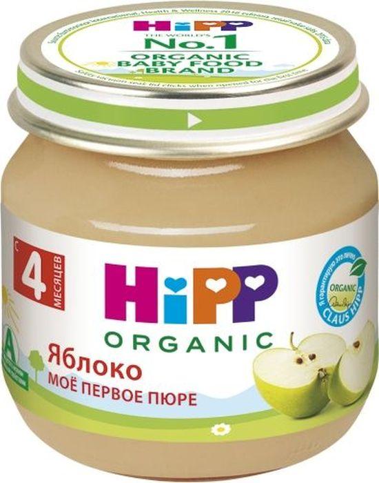 Hipp пюре яблоко, мое первое пюре, с 4 месяцев, 80 г