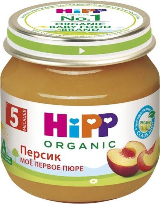 Hipp пюре персик, мое первое пюре, с 5 месяцев, 80 г