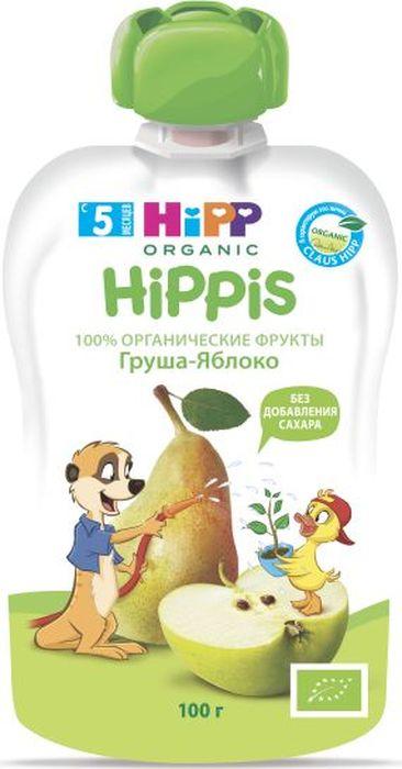 Hipp пюре груша, яблоко, с 5 месяцев, 100 г