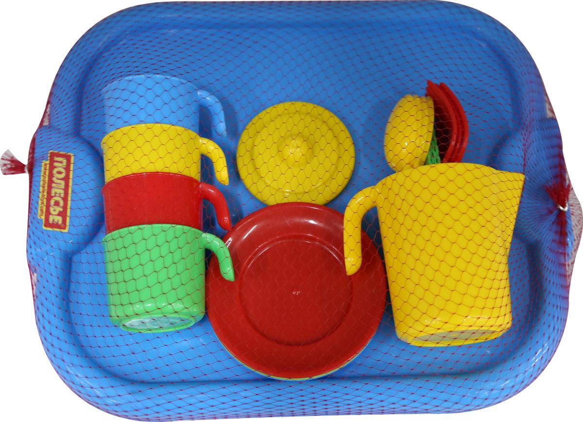 цена на Полесье Набор игрушечной посуды Анюта 3889, цвет в ассортименте