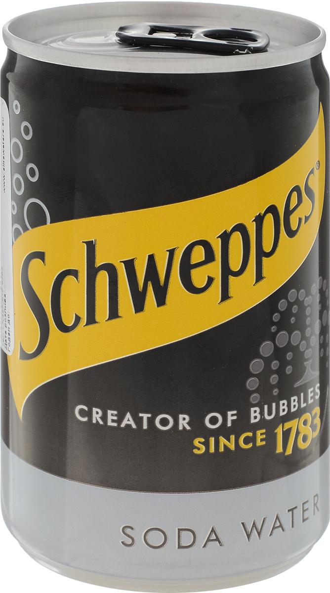 Schweppes Soda Water напиток газированный, 150 мл schweppes индиан тоник напиток сильногазированный 12 штук по 1 л