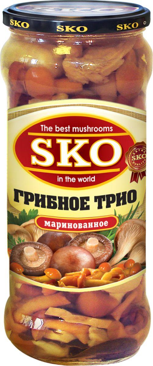 sko грибное трио ассорти маринованное 580 мл SKO грибное трио ассорти маринованное, 580 мл