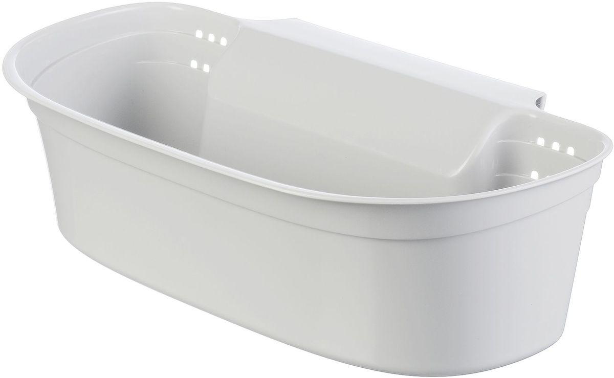 Органайзер для мусора Idea, цвет: белый, 9,5 х 17,5 х 31 см органайзер кухонный idea цвет салатовый 19 х 25 х 14 5 см
