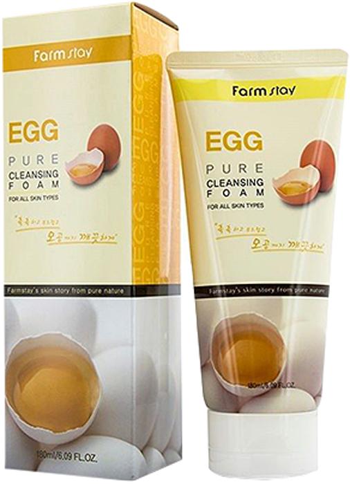 FarmStay Пенка очищающая с яичным экстрактом, 180 мл для волос желток или белок
