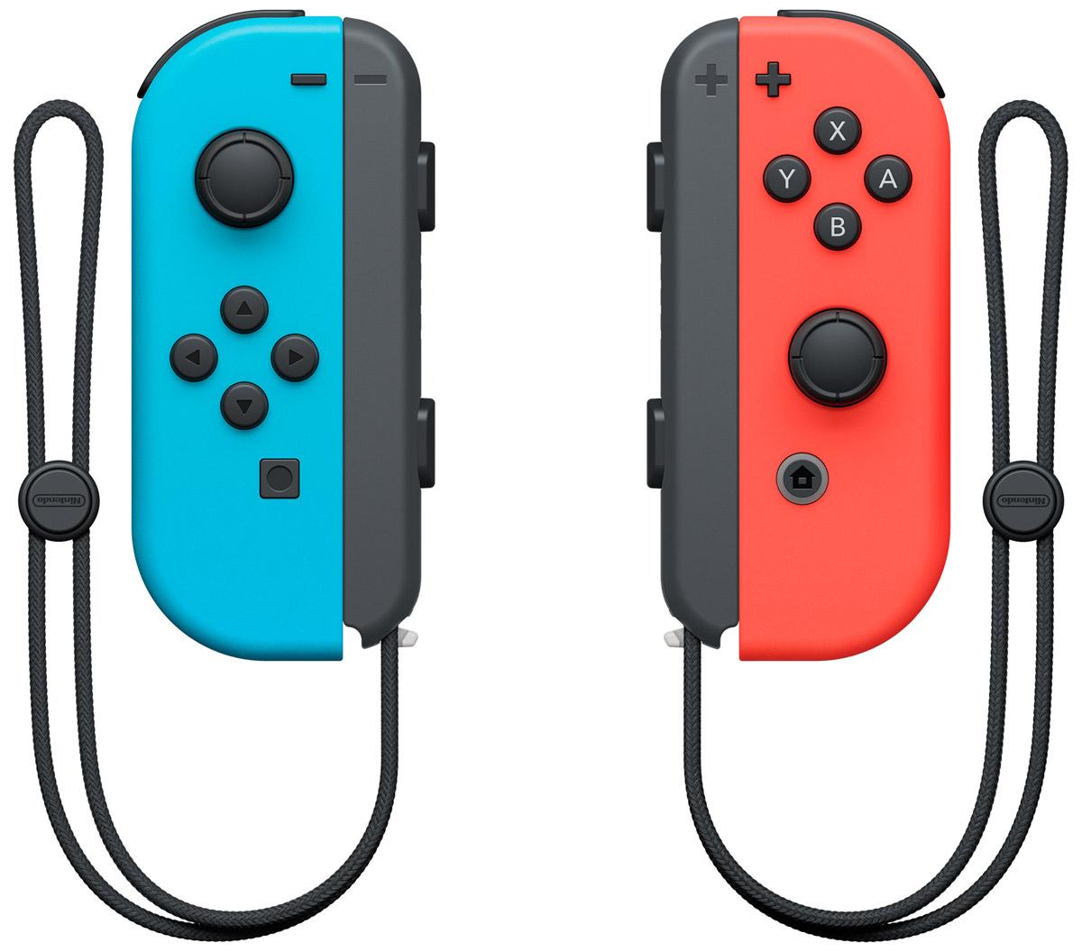 Набор контроллеров Joy-Con для Nintendo Switch, Neon Red Neon Blue игровая консоль nintendo switch neon red blue mario kart 8 deluxe