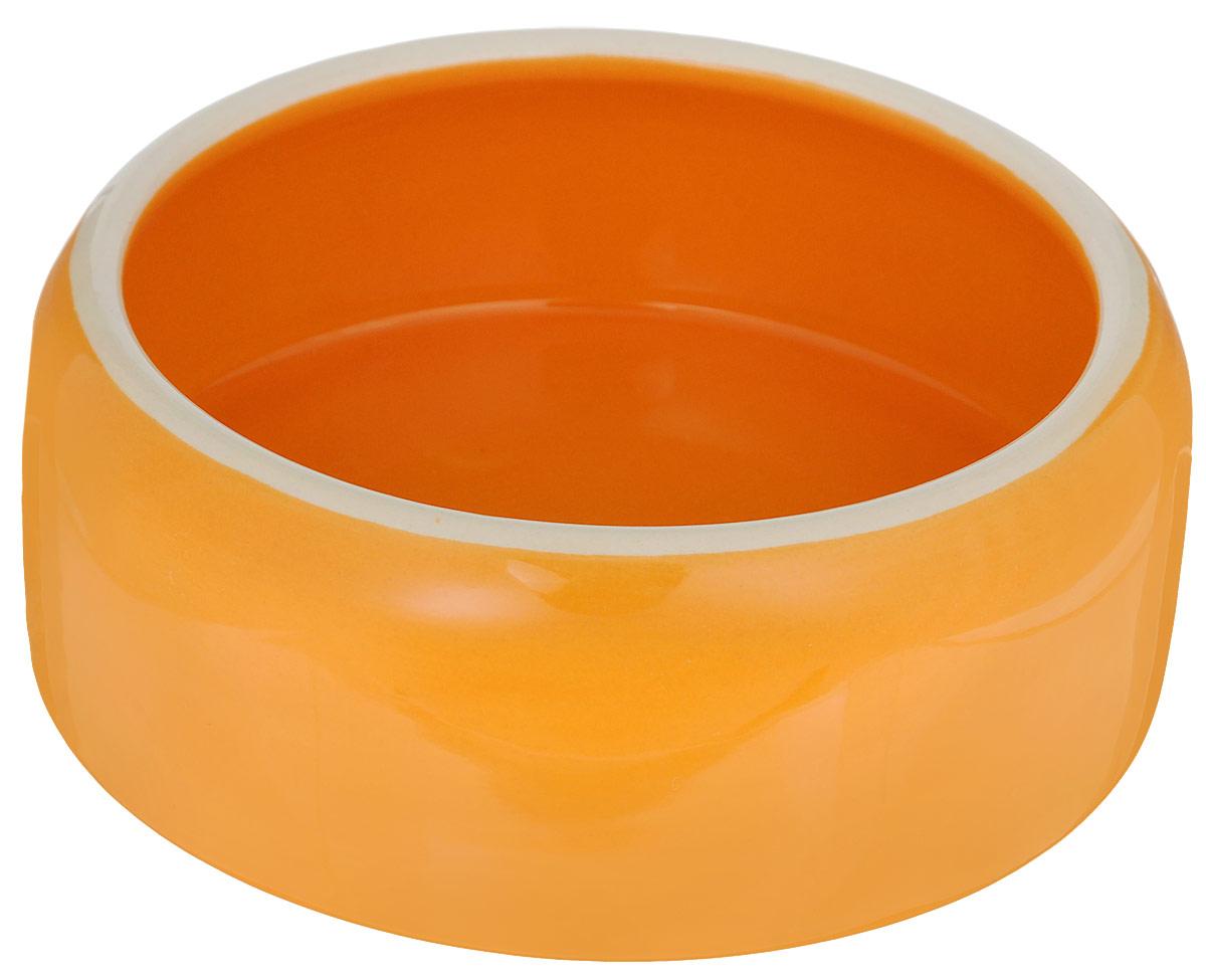 цена на Миска для животных Nobby, цвет: оранжевый, 500 мл