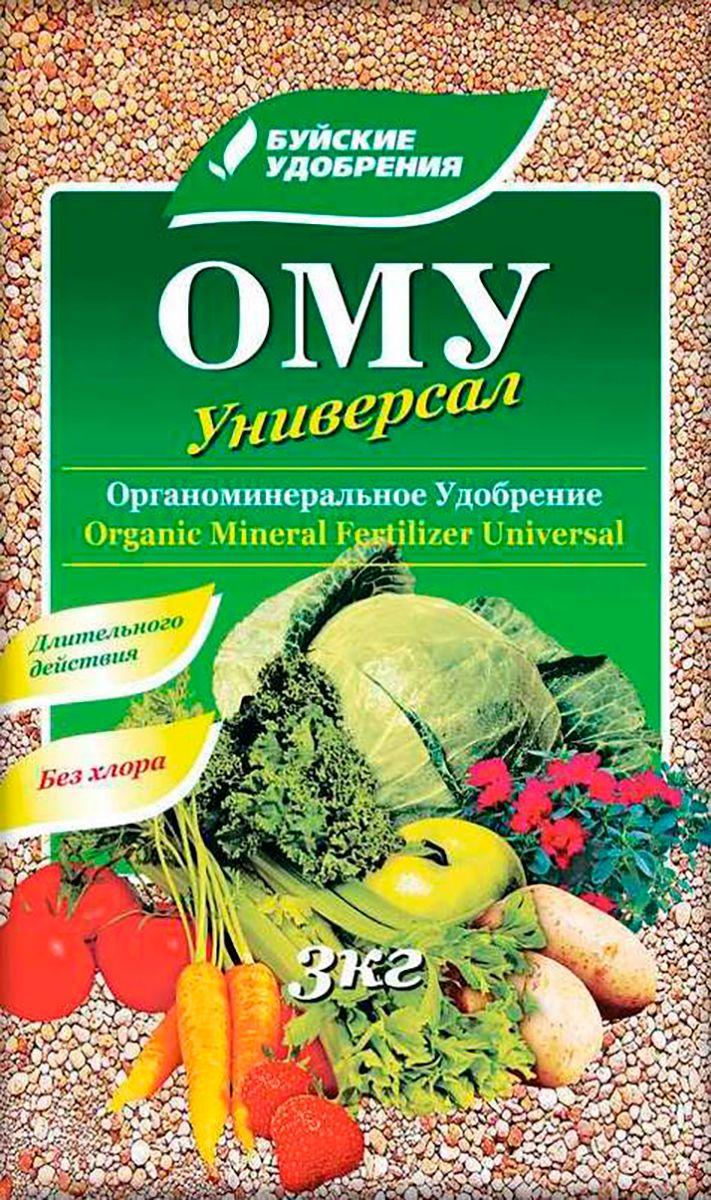 Удобрение Буйские Удобрения Универсал, органоминеральное, универсальное, 3 кг удобрение росому осеннее органоминеральное универсальное 5 кг