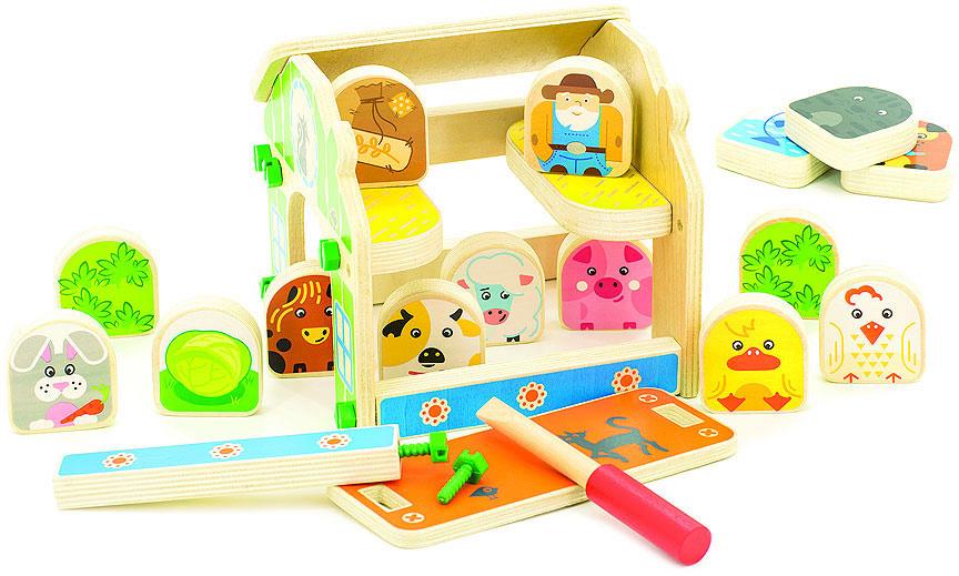 Мир деревянных игрушек Игровой набор Ферма конструкторы мир деревянных игрушек мди ферма