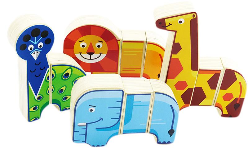 Мир деревянных игрушек Обучающая игра Африканские животные набор для развития моторики мир деревянных игрушек д189