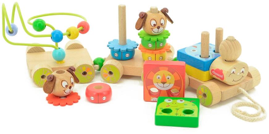 Мир деревянных игрушек Развивающая игрушка Паровозик Чух-чух №1