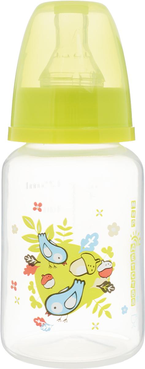 Мир детства Бутылочкадля кормления с силиконовой соской цвет желтый 125 мл мир детства бутылочка