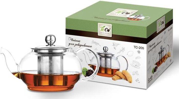 Чайник заварочный Teco, 450 мл. TC -205 Уцененный товар (№2)