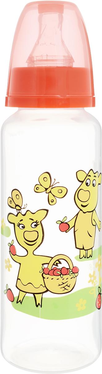 Мир детства Бутылочка для кормления с силиконовой соской от 0 месяцев 250 мл, в ассортименте мир детства бутылочка