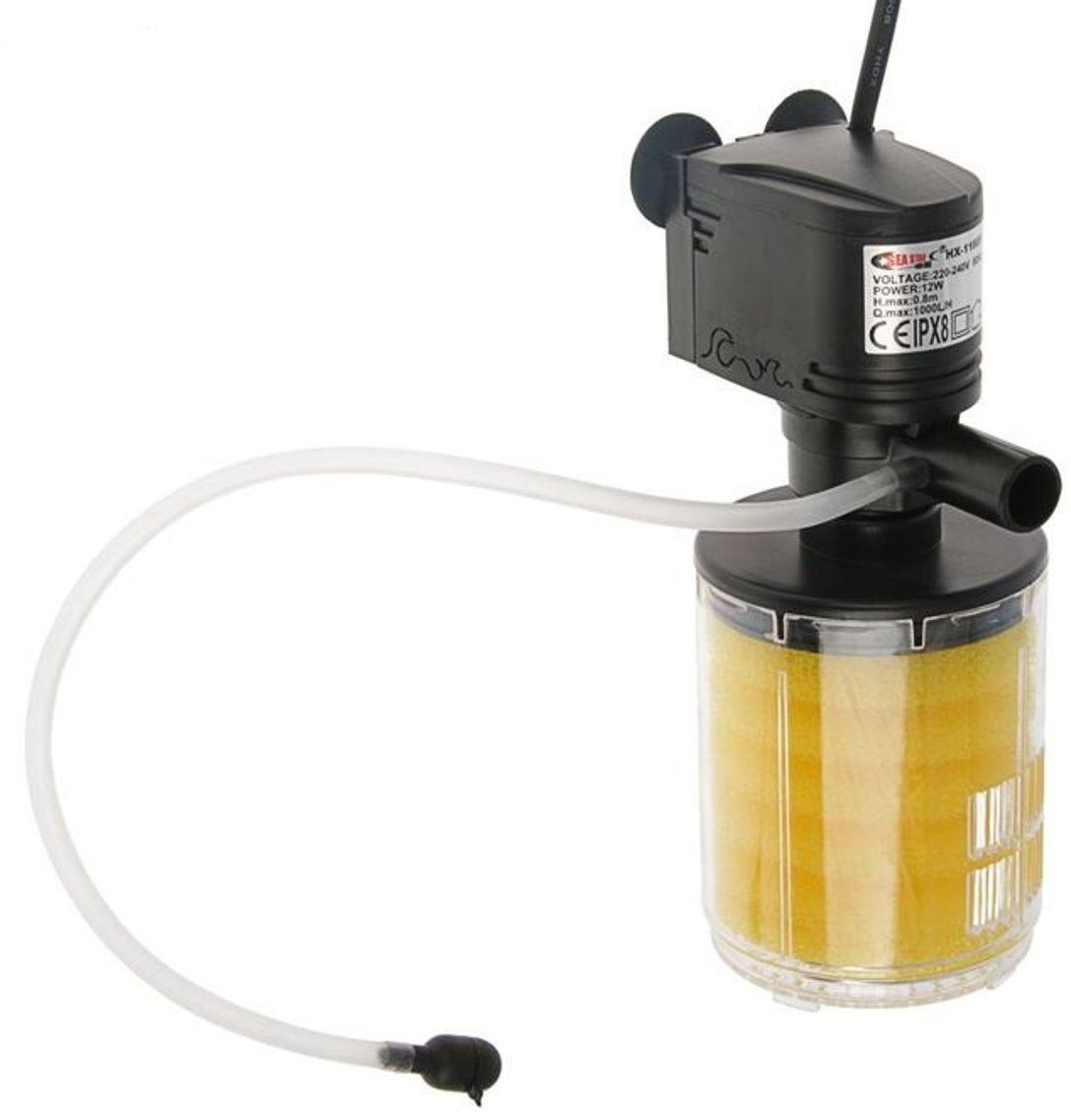 Фильтр внутренний аквариумный Sea Star HX-1180F, камерный, 1000 л/ч, 12 Вт фильтр внутренний аквариумный sea star hx 1380f камерный с бионаполнителем 1800 л ч 25 вт