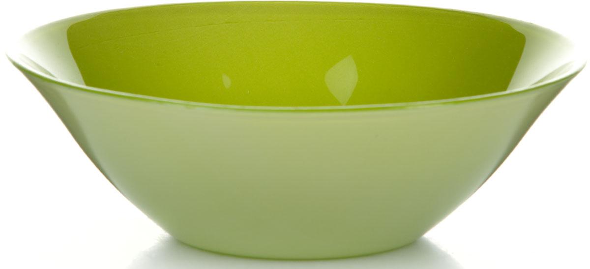 Салатник Pasabahce Грин Виллаж, цвет: зеленый, диаметр 14 см салатник pasabahce pleasure 14 см