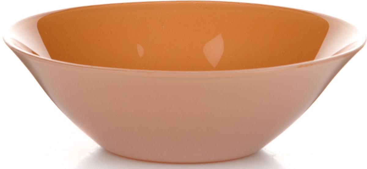 Салатник Pasabahce Оранж Виллаж, цвет: оранжевый, диаметр 14 см салатник pasabahce pleasure 14 см