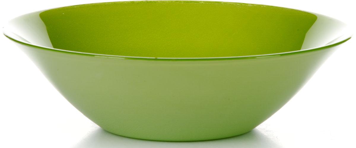 Салатник Pasabahce Грин Виллаж, цвет: зеленый, диаметр 23 см салатник pasabahce lemon 23 см