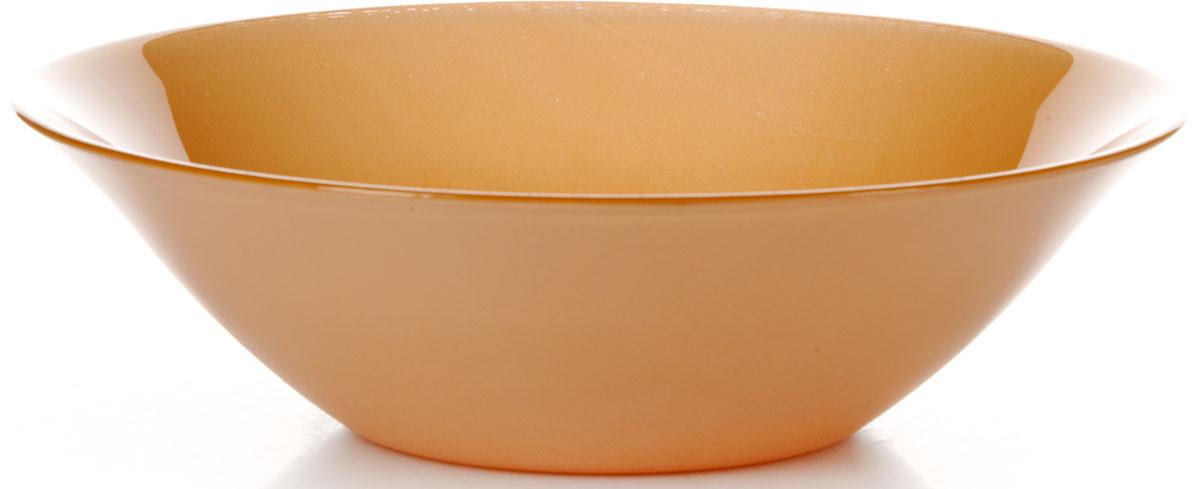 Салатник Pasabahce Оранж Виллаж, цвет: оранжевый, диаметр 23 см салатник berossi domino twist цвет снежно белый 0 7 л