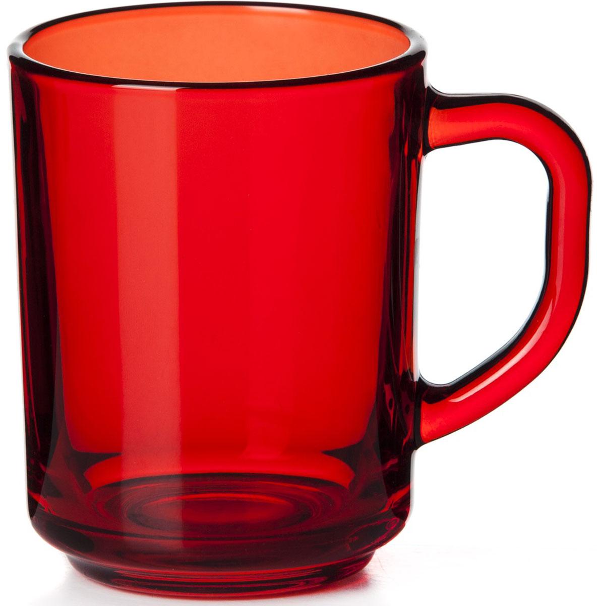 Кружка Pasabahce Энжой Рэд, цвет: красный, 250 мл соусник pasabahce бэйсик 250 мл