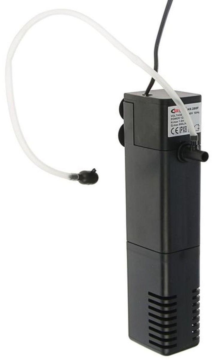 Фильтр для аквариума Sea Star HX288F, внутренний, 12W, 800 л/ч фильтр наружный для аквариума sea star каскад с многоступенчатой и эффективной очисткой 6 5w 680 л ч