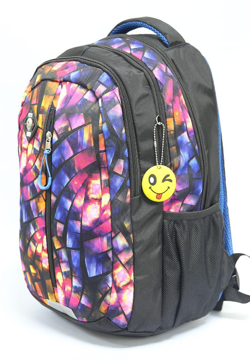 Рюкзак детский UFO people цвет черно-синий 7610 цена и фото