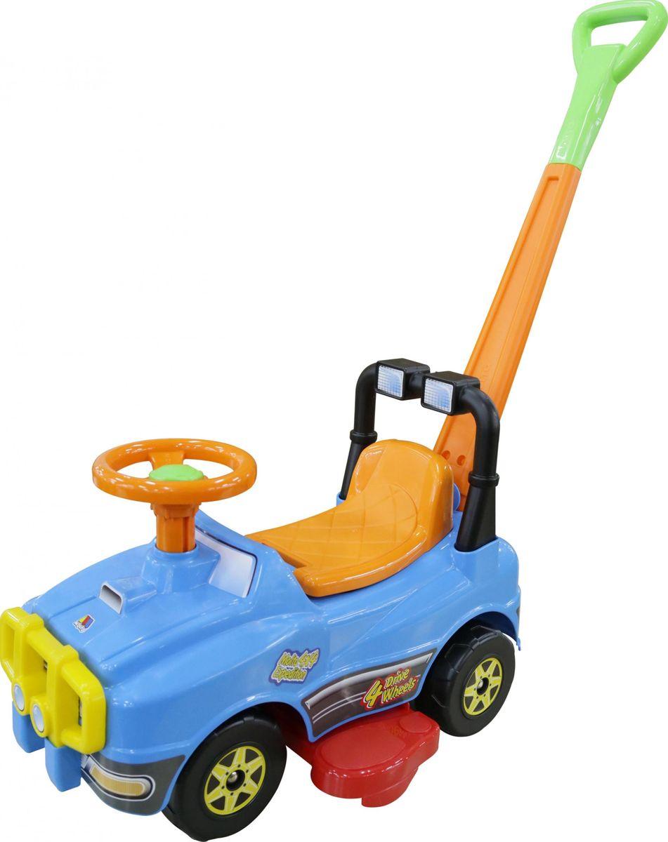 Полесье Автомобиль-каталка Джип с ручкой №2 цвет в ассортименте