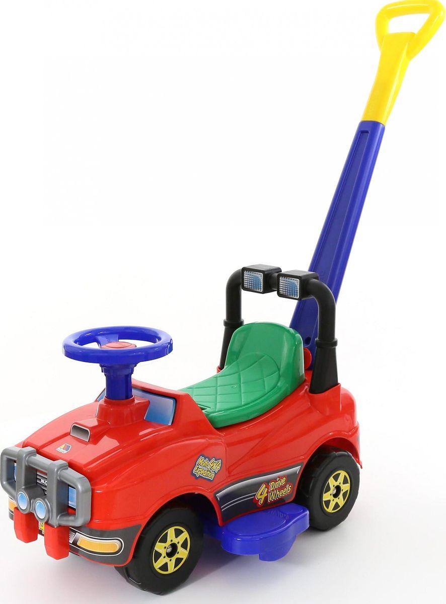 Автомобиль-каталка Полесье Джип №2, с ручкой, без клаксона, 62949, в ассортименте каталка игрушка полесье пальма с ручкой 7918